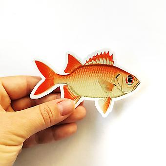 Red Fish Vinyl Sticker