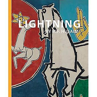 Lightning by M.F. Husain