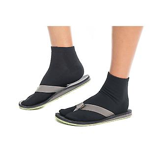 Thicker Athletic Or Casual Black Flip-flop Tabi Socks Cotton Blend - Ankle