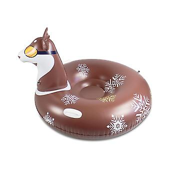 Double layer inflatable elk snow sled for kids and adults
