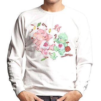 Care Bears Christmas Lotsa Heart Elephant Festive Candy Men's Sweatshirt