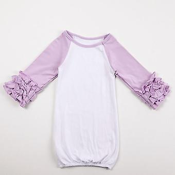 Baby Sleeping Bag, Raglan Ruffle Sleeve Baby Sleep Sack Cotton Clothes