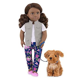 Our generation regular doll - malia and pet poodle - 46cm doll - for ages 3, 4 and up