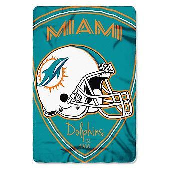 Miami Dolphins NFL Northwest Shield Fleece Throw
