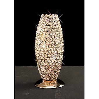 Kos Tischleuchte 3 Glühbirnen Gold / Kristall