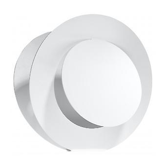 Nazaria hvid stål væg lys 1 pære