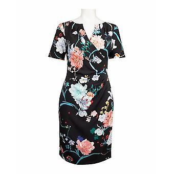 Vestido de día de flor Adrianna Papell