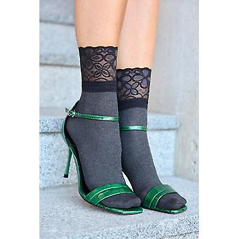 Socks With A Lace Cuff