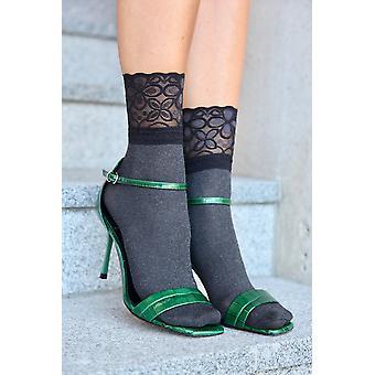 Elegant Lace Cuff Socks