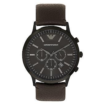 Armani Ar2462 Sportivo ruskea nahka kronografi Miesten Armani Watch