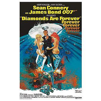 James Bond Diamonds Are Forever Postcard