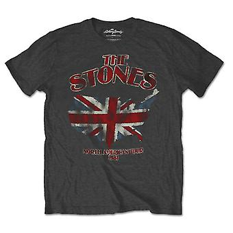 The Rolling Stones Union Jack Us Map Official Tee T-Shirt Mens Unisex