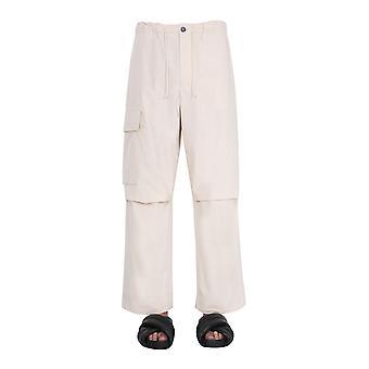 Jil Sander Jpus310705ms242600280 Men's Beige Cotton Pants
