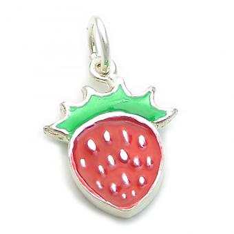 Strawberry Sterling Silver Charm .925 X 1 Aardbeien Fruit Charms - 6317