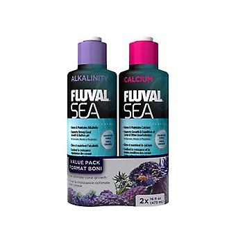Fluval FLUVAL SEA ALKALINITY/CALCIUM PACK (Fish , Maintenance , Water Maintenance)