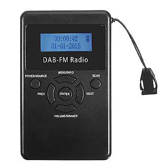 FM/DAB Radio Bärbar digital audiosändning uppladdningsbar mottagare Hörlurar