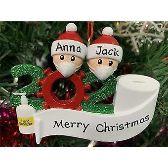 Joulukoristeen henkilökohtainen riipus ainutlaatuinen joulukuusen koristelu kanssa