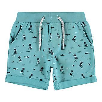 Name-it Boys Long Sweat Short Vermo Aqua