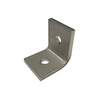 M12 2 Hole Angle Plate (1026) For Channels T304 Stainless Steel (as Unistrut / Oglaend)