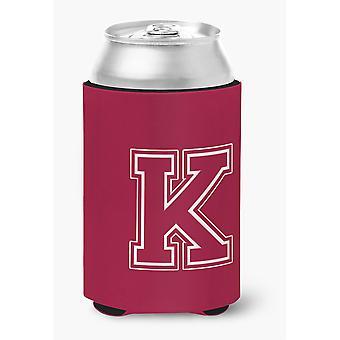 Buchstabe K ersten Monogramm - Kastanienbraun und weiß kann oder Flasche Getränk Isolator Hugger