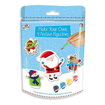Make Your Own 4 Festive Figurines