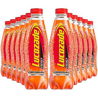 12 Pack of 900ml Lucozade Original Energy Drink Powered By Glucose