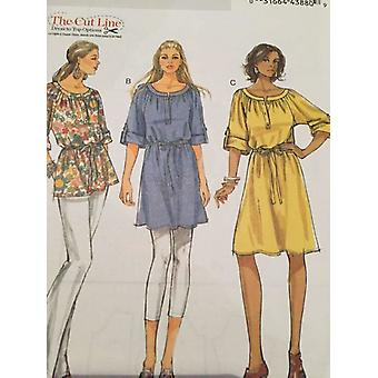 Butterick Sewing Pattern 5612 Ladies Misses Top Tunic Dress Size XS-MD 4-14 UC