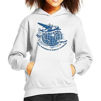 Pan Am volando alrededor del mundo kid's sudadera con capucha