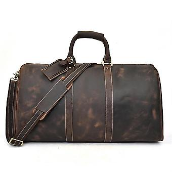 Sac de voyage en cuir authentique pour hommes, sac de voyage tote big weekend