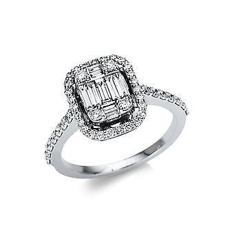 לונה יצירה Promessa טבעת אבן מרובים לקצץ 1U114W852-1 - רוחב טבעת: 52