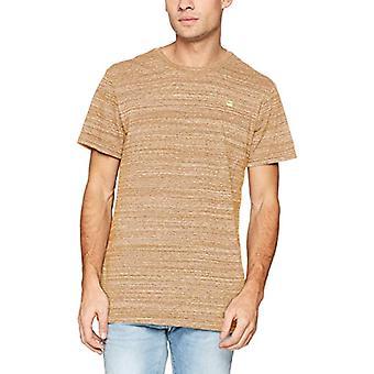 G-STAR RAW Ny Klassisk Vanlig R T S/S T-Shirt, Brun (Antilop Htr 8924), Small Man