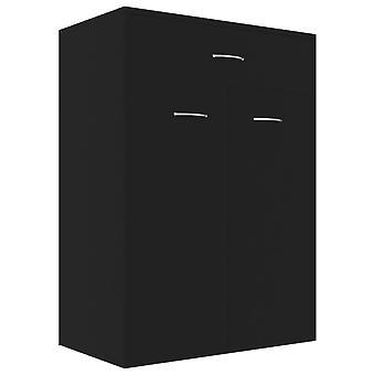 vidaXL Kenkäkaappi Musta 60×35×84 cm Lastulevy
