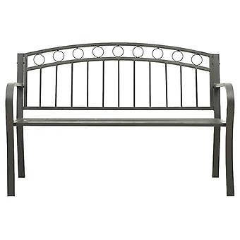 vidaXL banc de jardin 125 cm acier gris