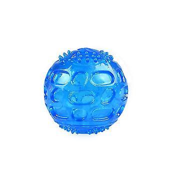 2Pcs الأزرق الكلب الحيوانات الأليفة المضادة للعض ومكافحة مملة تدريب الكرة الصوتية az5312