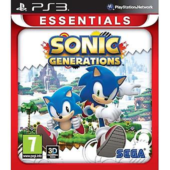 Soniske generasjoner (Essentials) Spill PS3