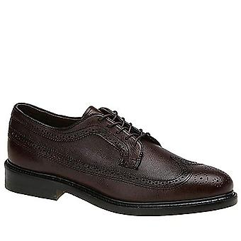 Executive Imperials Mens Brown wing tip Lace Up Dress Oxfords