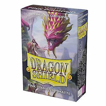 Dragon Shield Matte Pink Diamond Japanese Size Card Sleeves - 60 Sleeves