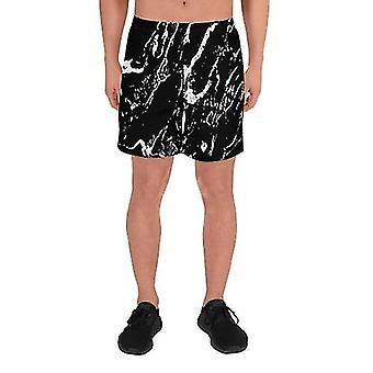 Black Marble Men''s Athletic Shorts