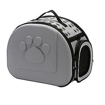 L 42 *35 * 26cm grå udendørs bærbare foldbare kæledyr kat taske az13004