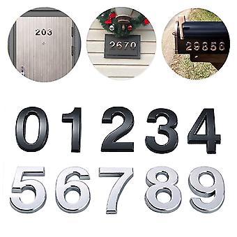 Itseliimautuva 3D-numerotarroja, Talo, Huone, Oven rekisterinumeromerkki kotiin,