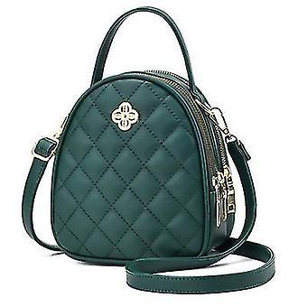 Nuova borsa 2021 Nuova moda One-shoulder Messenger Small Bag (Verde Scuro)