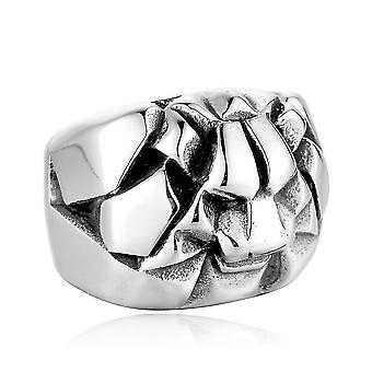 Lion Head Anime Ring Punk Titán Steel Man Ring A Party