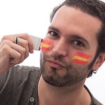 Spansk flagga ansiktsfärg