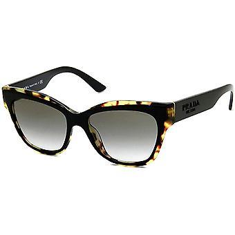 פראדה יחסי ציבור 23 XS 3890A7 שחור / הוואנה מדיה משקפי שמש