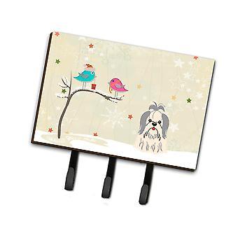 Los tesoros de Caroline regalos de Navidad entre amigos Shih Tzu silver white leash or key holder Bb2557Th68, triple, multicolor