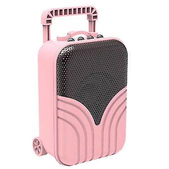 Mini trolley case card portable audio(Pink)