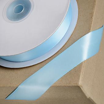 25m Cielo Azul 15mm Cinta de satén ancho para artesanías