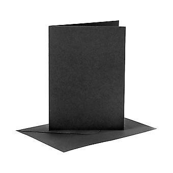 6 Zwarte A6-kaarten en enveloppen voor kaartmakende ambachten | Kaart die Spaties maakt