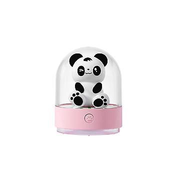 Nattlys barn baby natt lys panda ledet natt lampe med usb lade oss og fargeskifte for barn rom, baby rom, soverom, (rosa)