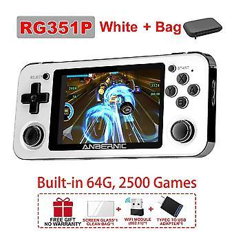 Neue rg351m rg351p Retro Videospielkonsole Aluminiumlegierung Shell 2500 Spiel tragbare Konsole rg351 Handheld-Spielspieler